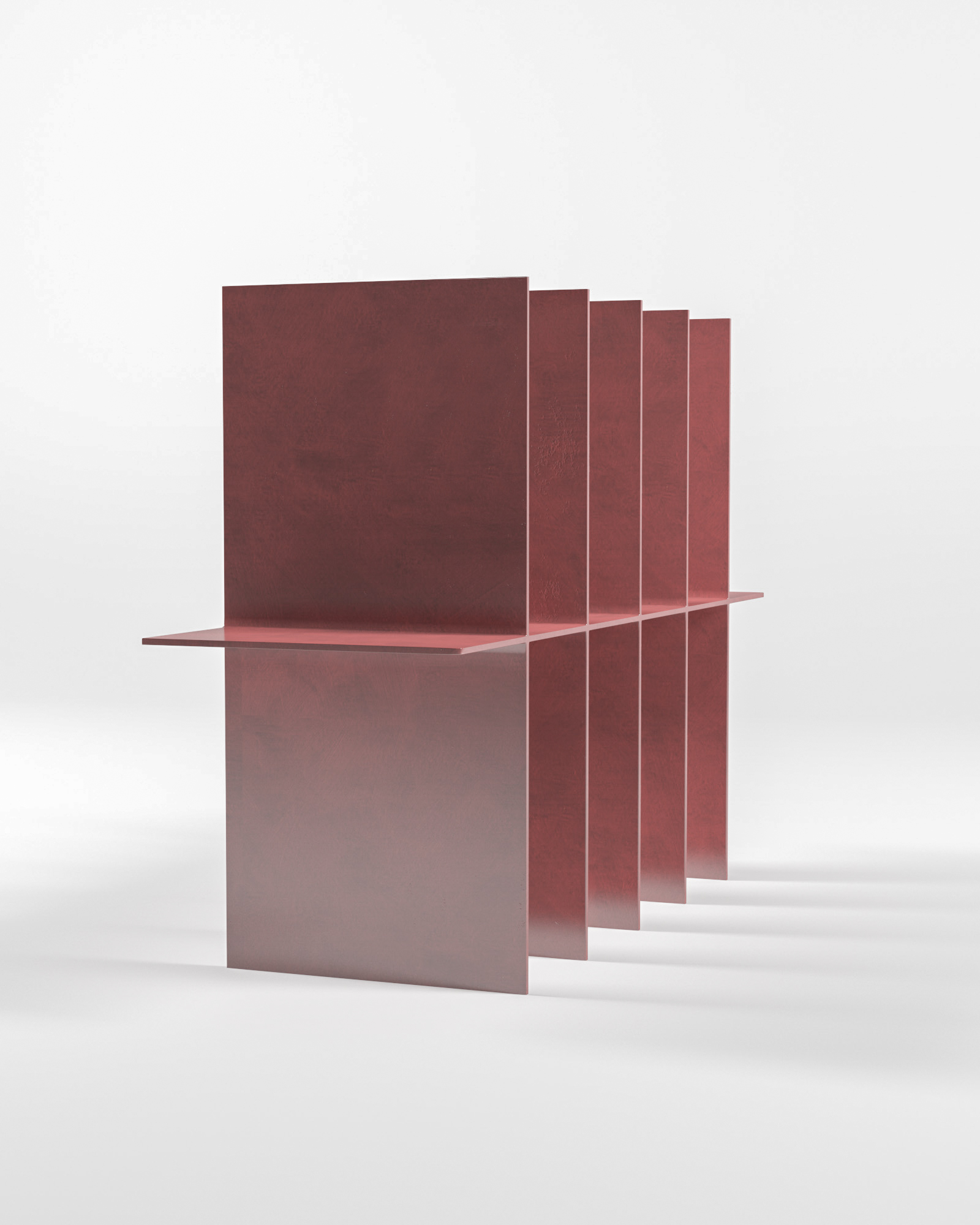 Metallic shelf